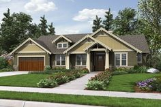 Attractive Craftsman One-Story with Sensible Floor Plan. Plan 1144EB The Umatilla is a 1868 SqFt Craftsman, Ranch style home plan featuring Covered Patio, Den, Den/Bedroom, and Walk-In Pantry by Alan Mascord Design Associates. View our entire house plan collection on Houseplans.co.