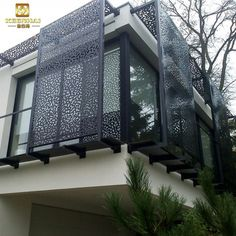Decorating the Small Balcony Privacy Screen Window Grill Design Modern, Balcony Grill Design, Balcony Railing Design, Modern House Design, Design Exterior, Facade Design, Modern Exterior, Exterior Wall Panels, Exterior Cladding