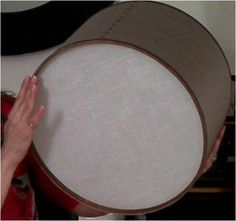 How To Make a DIY Drum Shade   Apartment Therapy Design Evenings - http://centophobe.com/how-to-make-a-diy-drum-shade-apartment-therapy-design-evenings/ -