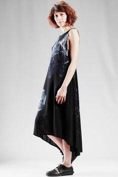 Y'S Yohji Yamamoto   longuette dress in light rayon cloth with tye-dye effect   #ysyohjiyamamoto