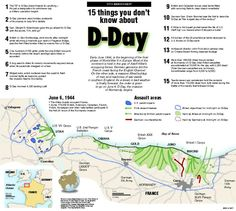 D-Day map - 15 things you don't know about - Normandy Landings