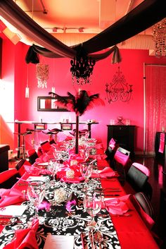 Gorgeous glam birthday party table