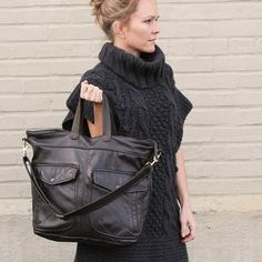 Shannon South / ReMade in the USA   Send in your old leather jacket to be recycled into a custom leather handbag