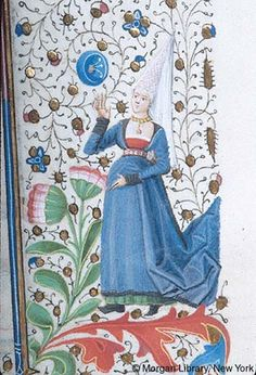 Woman wearing hennin | Book of Hours | France, Provence | ca. 1440-1450 | The Morgan Library & Museum