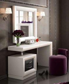 Kirkwood Bedroom Makeup Vanity Set With Mirror pertaining to proportions 1430 X 1433 Mirrored Bedroom Vanity Table - We all know how important the sack Bedroom Makeup Vanity, Bedroom Vanity Set, Makeup Vanity Set, Mirror Bedroom, Vanity Ideas, Makeup Vanities, Vanity Decor, Mirror Ideas, Diy Vanity