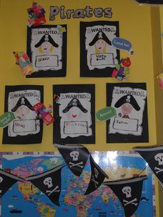 Pirates Wanted Poster Display, classroom display, class display, Pirates, pirate, jolly roger, treasure, Early Years (EYFS), KS1 & KS2 Primary Resources