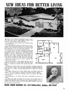 Parade Plan Book - Houston Homebuilders Assn - 5135 Jackwood, Houston, TX - Architect: James Johnson by MidCentArc, via Flickr