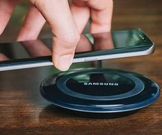 Charge your smartphone or tablet like never before using this wireless charging pad. It's compatible with a range of devices and utilizes Qi inductive charging technology which eliminates the need to attach a charging cable.