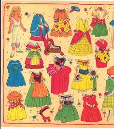 A little Danish paper doll w/ historic costumes (1 of 4)