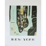 New York Map Print by Rifle Paper Co.