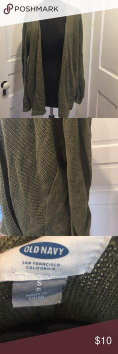 Green  open sweater Green cardigan really warm old navy Old Navy Sweaters Cardigans