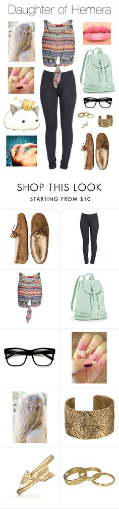 """""""Daughter of Hemera"""" by kitty3136 ❤ liked on Polyvore featuring UGG Australia, Boohoo, Meli Melo, Retrò, Rad Nails, Bling Jewelry, Scotch & Soda and Laura Mercier"""