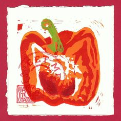 Bell Pepper - Art Snack linocut from Art To Take