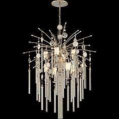 """Corbett Bliss 36"""" Wide Pearl Glass Topaz 9-Light Pendant"""