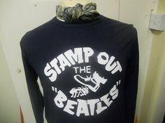 Iconic Stamp Out The Beatles Top, Originally Produced Out Of Protest Against the Beatles In America After Lennon's Infamous Remarks In 1966 That They were More Popular Than Jesus.