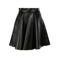 MSGM Mini-Skirts ($215) ❤ liked on Polyvore featuring skirts, mini skirts, black, vegan leather skirt, black faux leather skirt, faux leather skirt, short skirts and msgm