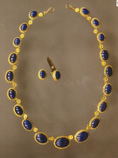 gold necklace with lapis lazuli – Fakaros jewelry Gold Necklaces, Beaded Necklace, Jewelry Sets, Gold Jewelry, Lapis Lazuli, Beaded Collar, Gold Jewellery, Gold Necklace, Gold Bridal Jewellery