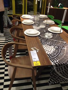 IKEA Dining table & 8 chairs