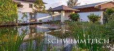 Ein Schwimmteich im Garten ist der Traum vieler Gartenbesitzer Swimming - Teich, Badeteich, Pool