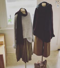 @lunagallery wool and mohair knits @loom_lifestyle pocket pants in whiskey @jiva_clothing pea green Gigii skirt.... in store and online ...#wool #linen #cotton