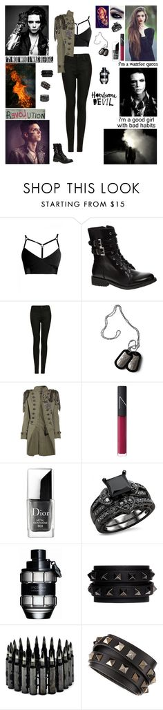 """✖ Tag In D! ✖ Come a little closer. You could be my soldier keeping me safe from all who conspire enemy fire! All around me I hear cries and bombs are falling from the skies. Can't you help me save my life? Enemy fire! ✖"" by blueknight ❤ liked on Polyvore featuring Shellys, Topshop, Balmain, NARS Cosmetics, Christian Dior, Trilogy, Viktor & Rolf, Burfitt, Valentino and country"
