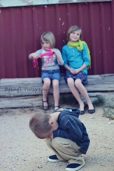 My kids when we tried to get Christmas card photos!