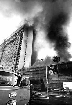 MGM Grand Hotel Fire, 1980 - watched from our parents upstairs bedroom window that looked out over the city.