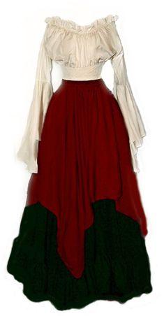 I-D-D Renaissance Medieval Peasant Wench Pirate Faire 3-Piece Costume #IDD #RenaissanceCostume