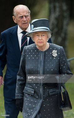 Queen Elizabeth II and Prince Their faces say everything ...   Philip, Duke of Edinburgh visit the concentration camp memorial at Bergen-Belsen on June 26, 2015 in Lohheide, Germany.