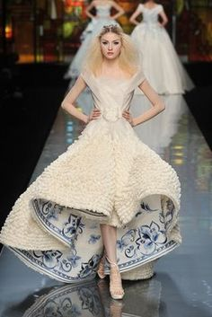 Wedding Blog  Dior Blue And White Porcelain Wedding Dresses Wallpaper