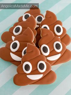 Hand Decorated Sugar Cookies: Of all of the emojis that can be made into cookies, the poop emoji is clearly the best one. These are decorated with 100% royal icing.