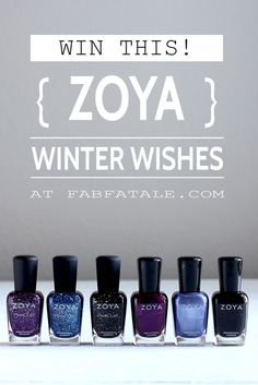 I'm giving away and swatched the entire Zoya Winter Wishes collection!