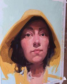 "self portrait in bathrobe, oil on paper, 12""x16"", private collection"