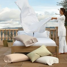 Oxygen bedding: our only light as air, luxury sheets. ($39.00)