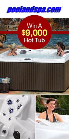 Enter To Win A $9,000 Hot Tub! FANTASTIC GIVEAWAY! Enter here http://womanfreebies.com/sweepstakes/win-a-9000-hot-tub For Your Chance To Win! You Know I Definitely Entered!! Thanks, Michele :)