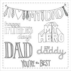 Father's Day Digital Doodle Stamps. $3.00, via Etsy.