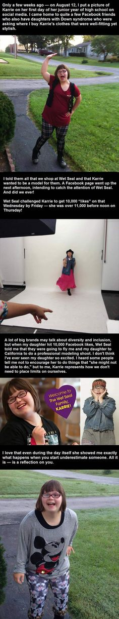Wet Seal proves how awesome they are by helping a wonderful girl with Down Syndrome, Kerrie, fulfill one of her dreams- to model their clothing!