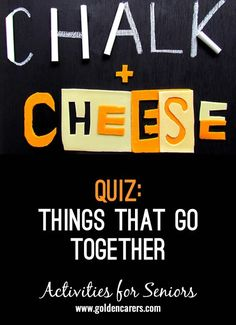 Things that go Together Quiz How many do you remember? A fun reminiscing quiz for seniors, suitable for people living with dementia. Senior Citizen Activities, Senior Games, Elderly Activities, Dementia Activities, Exercise Activities, Brain Activities, Montessori Activities, Group Activities, Daily Activities