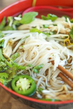 Cheater Pho (Asian Noodle Soup) - With this simplified version, you can have homemade pho on your table in 30 min or less. It doesn't get any easier! Vietnamese Recipes, Thai Recipes, Soup Recipes, Vietnamese Soup, Cooking Recipes, Vietnamese Cuisine, Asian Recipes, Cooking Ideas, Dinner Recipes