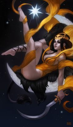 Ishtar by scebiqu. Ishtar is the East Semitic Akkadian, Assyrian and Babylonian goddess of fertility, love, war, and sex. Goddess Of Love, Moon Goddess, 3d Fantasy, Fantasy Girl, Geeks, Pop Art, Pin Up, Sacred Feminine, Fantasy Illustration