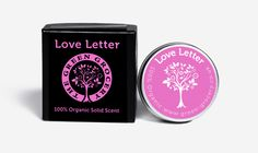 Organic Solid Scent: Love Letter by Green Grocery