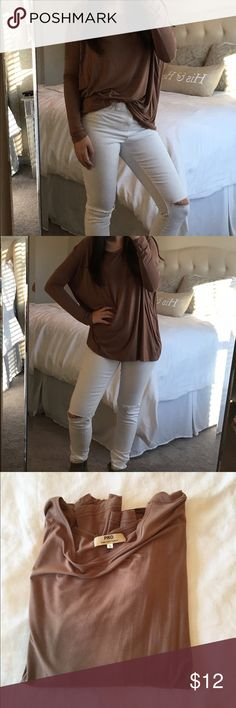 Piko brown scoop neck long sleeve top Piko brown scoop neck long sleeve top, only worn a handful of times excellent condition! Could fit a small or medium, depending on what type of fit you want! Tops