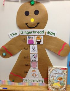 Unit 3 Week 3 - The Gingerbread Man (and Girl) Unit! TONS of math, literacy, and writing activities! Preschool Christmas, Christmas Activities, Christmas Themes, Holiday Crafts, Preschool Winter, Christmas Parties, Winter Activities, Holiday Fun, Christmas Gingerbread
