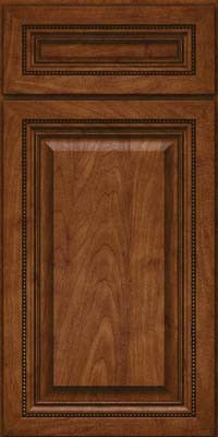KraftMaid Cabinets -Square Raised Panel - Solid (ALM) Maple in Cognac from waybuild