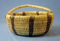 Wounaan Embera Woven Antiquish Basket Chunga Fiber-Panama 419.71394