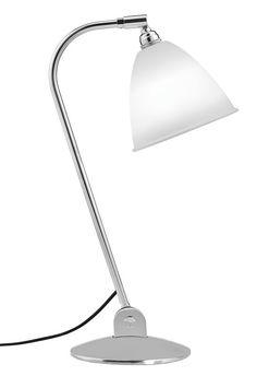 GUBI // Bestlite Table Lamp in bone china/chrome Table Lamps, Desk Lamp, Bone China, Chrome, Lighting, Home Decor, Lamp Table, Table Lamp, Lights