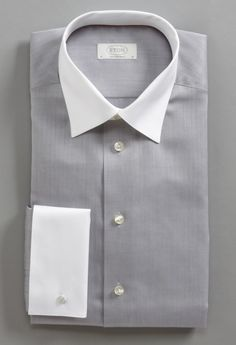 Donald Trump Dress Shirt, Solid White Collar French Cuff Long ...