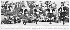 POPULAR HIGHLAND DANCING AT THE ANNUAL GATHERING OF THE TURAKINA CALEDONIAN SOCIETY at TURAKINA, WELLINGTON PROVINCE. with Gwenth MacNaughton very well known Auckland dancer - New Zealand - 5 February 1930.