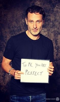 "Andrew Lincoln super Cute + Sexy throw back to his sweet character in the film ""Love Actually"" ❤❤❤"