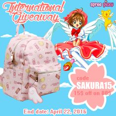 Hey sweeties, Attention to the promotion sale for some great deal. Use Code: Sakura15 for 15$ off on 80$, code valid till April 22th, 2016. New giveaway for Sakura Backpack ! How to join: 1. Follow @spreepicky 2. Like and Repin this pic 3. Finish above and enter here:http://goo.gl/FHML9I4. Ends on April 22, 2016 Good luck !